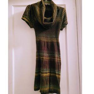Multicolor cowl neck dress